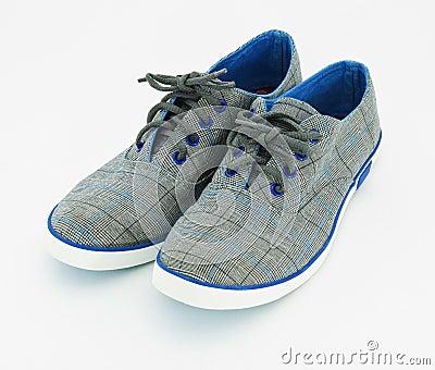 Blue sneakers