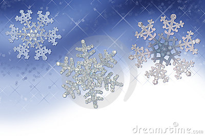 Blue Snowflake Border