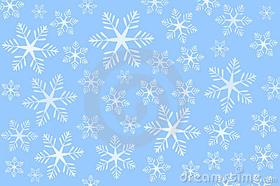 Blue snowflakes background (vector)