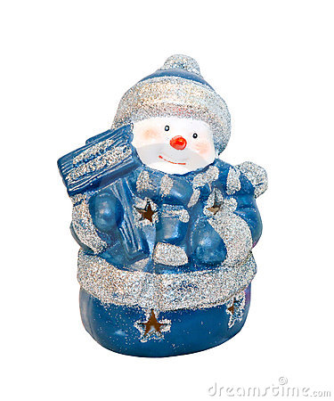 Free Blue Snowman Royalty Free Stock Images - 16995319