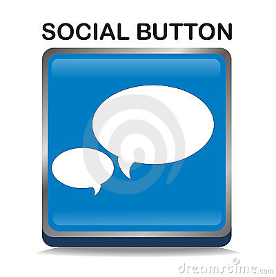 Free Blue Social Button Stock Image - 13195721
