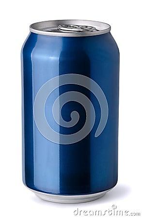 blank blue soda can - photo #1
