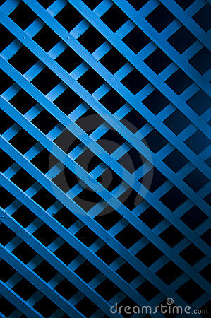 Blue Soft Light On Geometric Wood Art