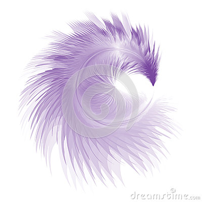 Blue Soft Realistic Feather Stock Vector - Image: 50393790