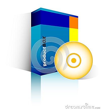 Free Blue Software Box Stock Image - 2550231