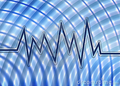 Blue Sound Wave Graph And Background