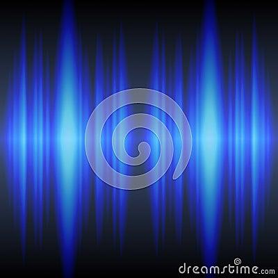 Blue sound waves