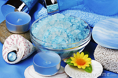 Blue spa and aromatherapy