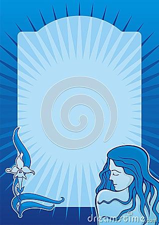 Blue spa girl vertical