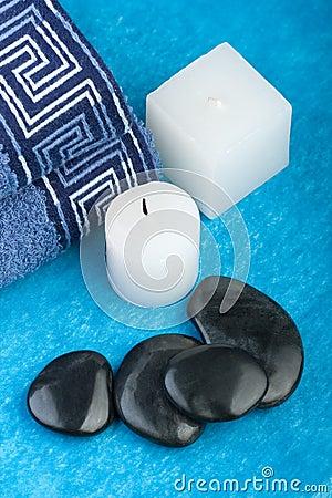 Blue spa setting
