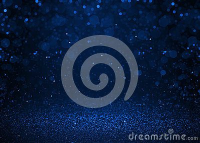 Blue sparkle glitter abstract background. Stock Photo