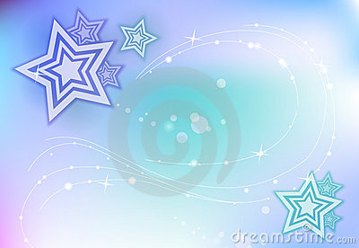 Blue Sparkling Background with stars