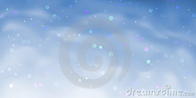 Blue sparkling sky background