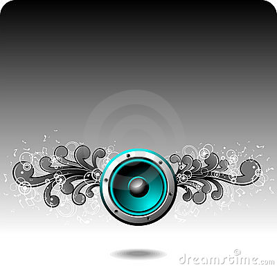 Free Blue Speaker Royalty Free Stock Photography - 10237827