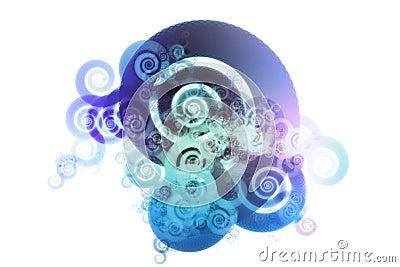 Blue Spectrum Color Blend Abstract Design Backgrou