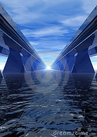 Blue speed speedway