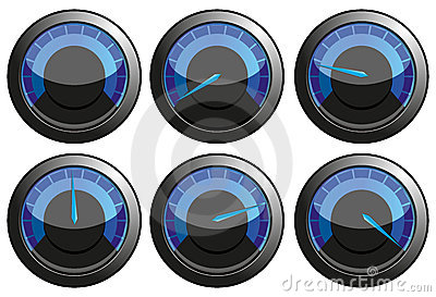 Blue speedometers
