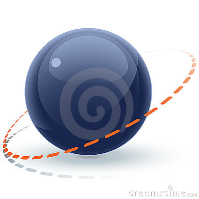 Free Blue Sphere With Orbit Royalty Free Stock Photos - 4403428