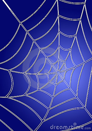 Blue spiderweb