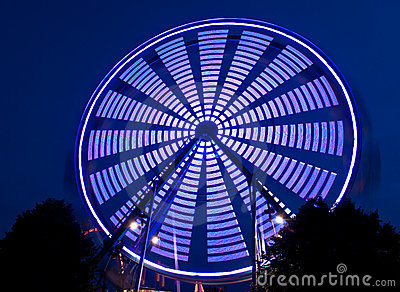 Blue Spinning Ferris Wheel