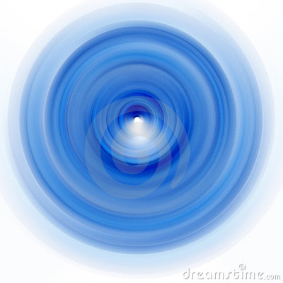Blue Spinning Plate