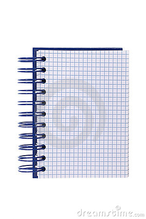 Free Blue Spiral-bound Notepad Royalty Free Stock Images - 22681539