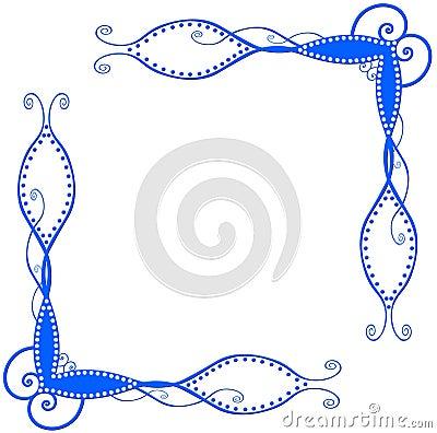 Blue spiral corners