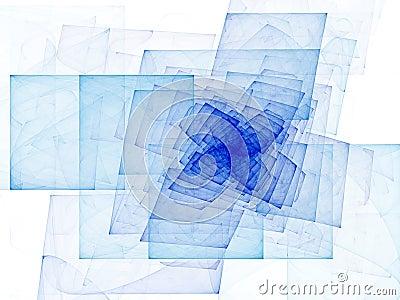 Blue Spiral Cubes