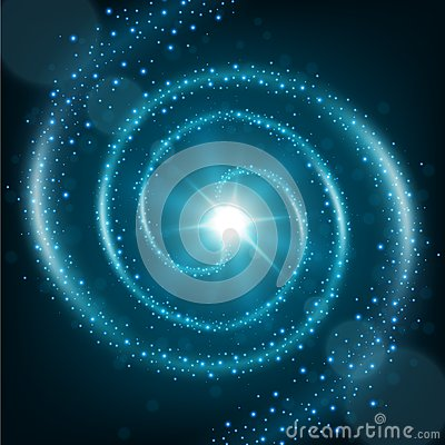 Free Blue Spiral Particle Trail Background Royalty Free Stock Photography - 72809287