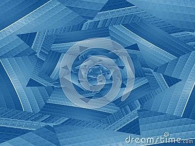 Blue spiral skip