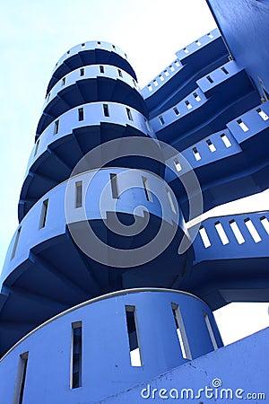 Blue Spiral Stair