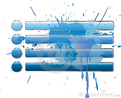 Blue splash buttons