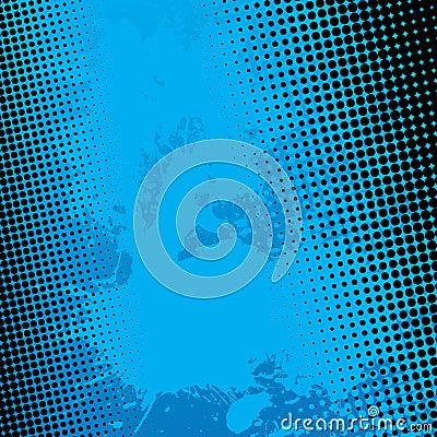 Blue Splatter Halftone Background