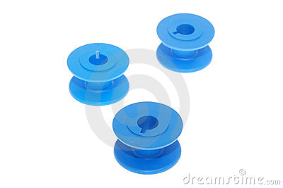 Blue spools
