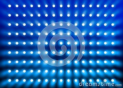 Blue spotlight wall