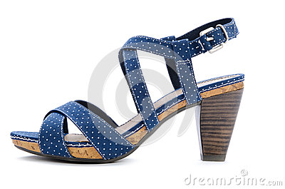 Blue spotted sandal