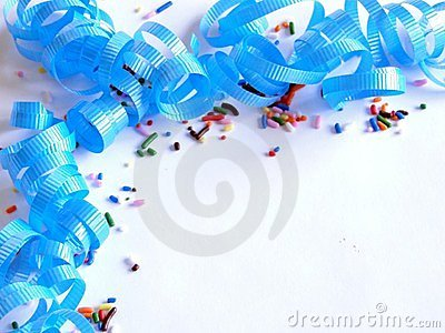 Blue Sprinkles and Spirals