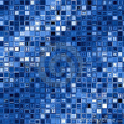 Free Blue Square Blocks Background. Royalty Free Stock Photo - 6853275