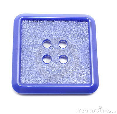 Blue Square Plastic Button Royalty Free Stock Photography - Image ...