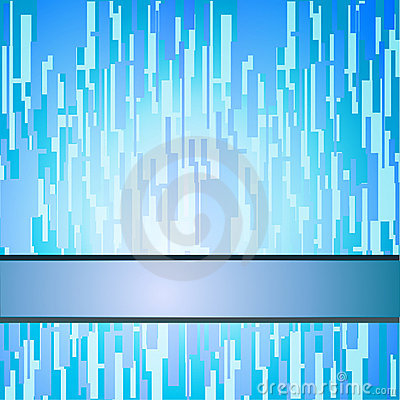 Blue squares techno background