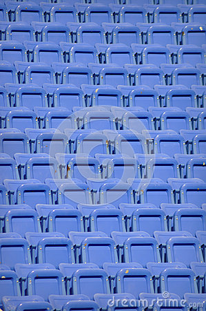 Blue Stadium Chairs - Repeating Texture