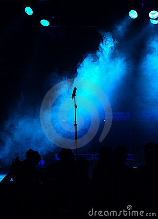 Free Blue Stage And Silhouette Royalty Free Stock Photos - 6814798