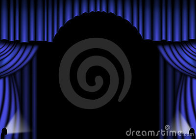 Curtains Ideas blue stage curtains : Blue Stage Drapes Stock Images - Image: 6275464