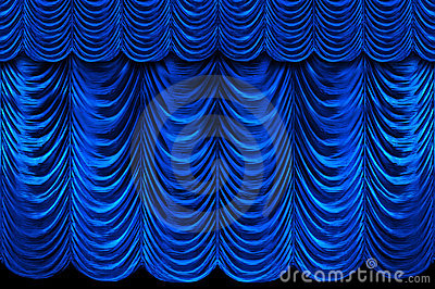 Blue Stage Curtains