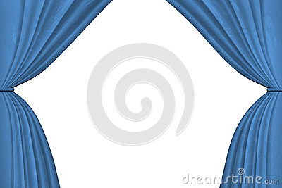 Curtains Ideas blue stage curtains : Blue Stage Curtains Royalty Free Stock Photos - Image: 12823788