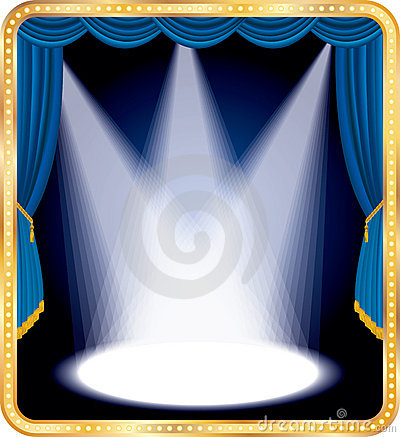 Free Blue Stage Spots Royalty Free Stock Image - 20513076