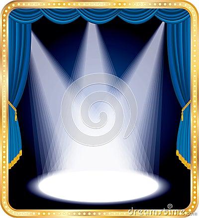 Blue stage spots