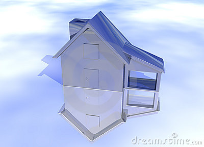 Blue Stainless Steel House