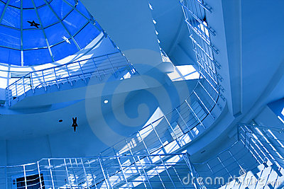 Blue stair in modern office