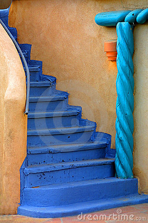 Free Blue Staircase Royalty Free Stock Photos - 2188